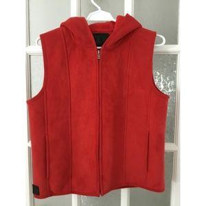 Ralph Lauren | red hooded sweater vest